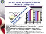 bureau name permanent workforce disability demographic