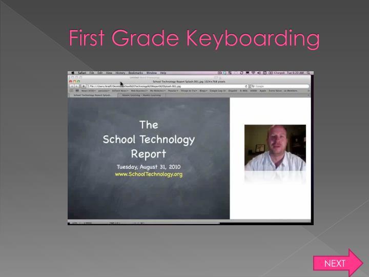 First Grade Keyboarding