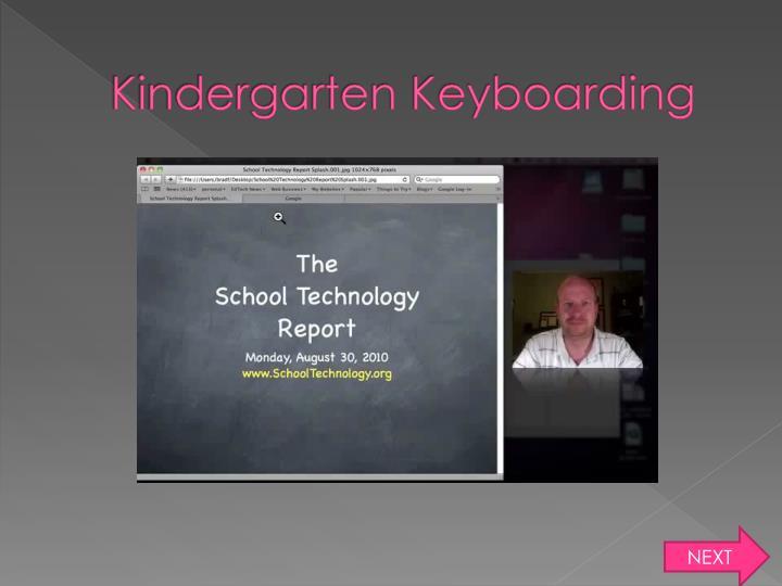 Kindergarten Keyboarding