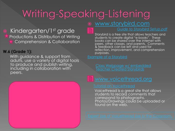 Writing-Speaking-Listening