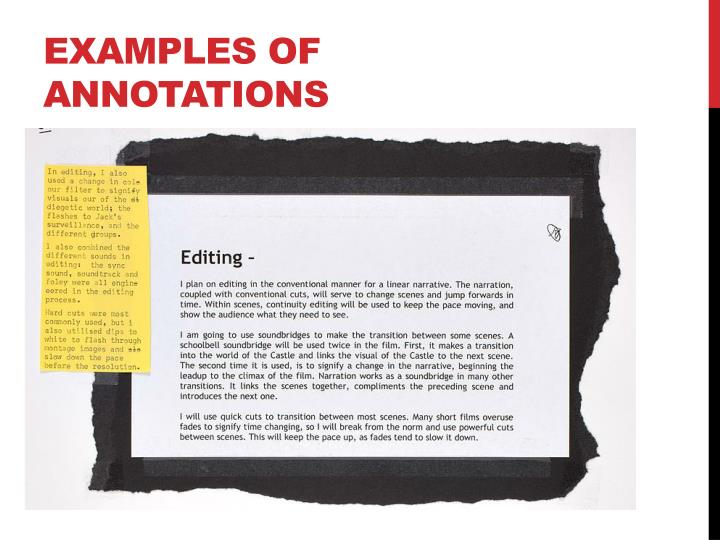 Examples of annotations