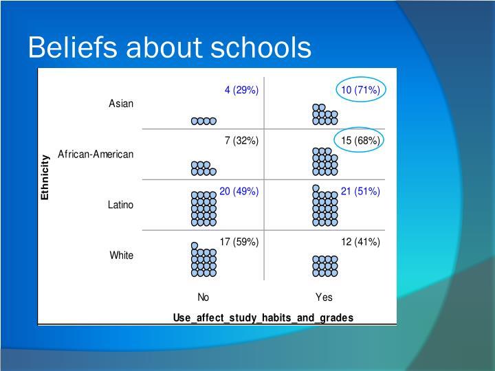 Beliefs about schools