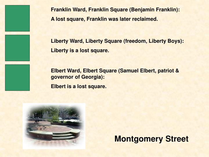 Franklin Ward, Franklin Square (Benjamin Franklin):