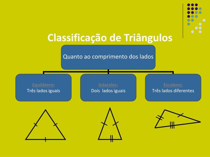 Classifica o de tri ngulos