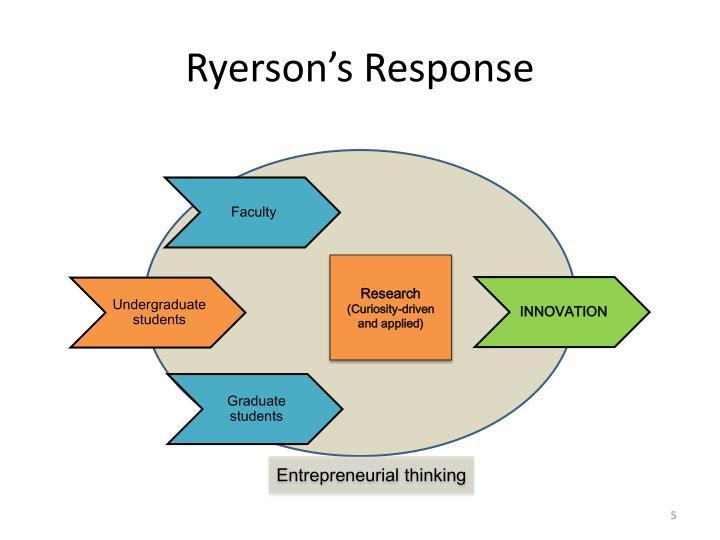 Ryerson's Response
