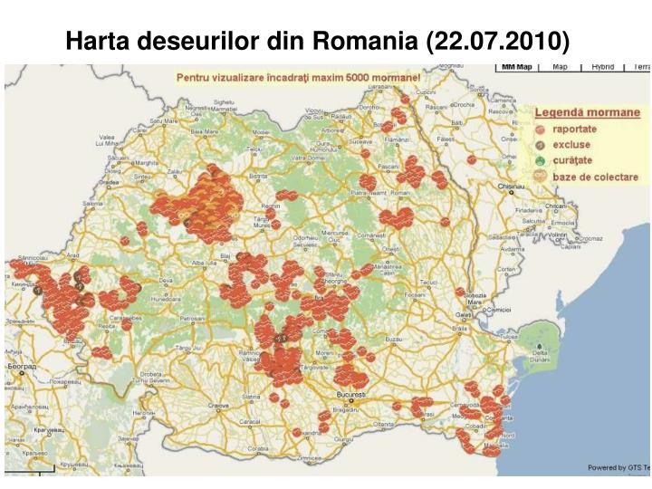 Harta deseurilor din Romania (2