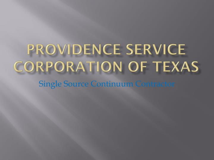 providence service corporation of texas n.