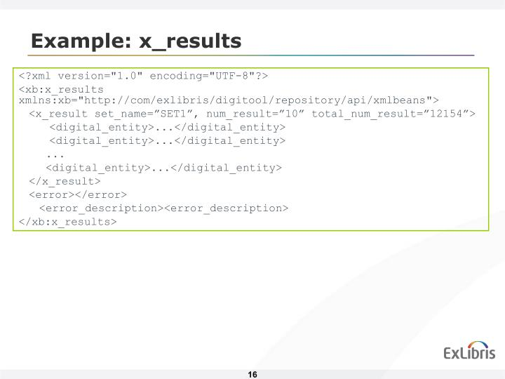 Example: x_results