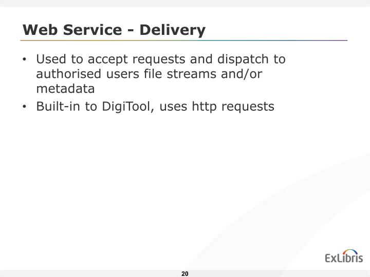 Web Service - Delivery