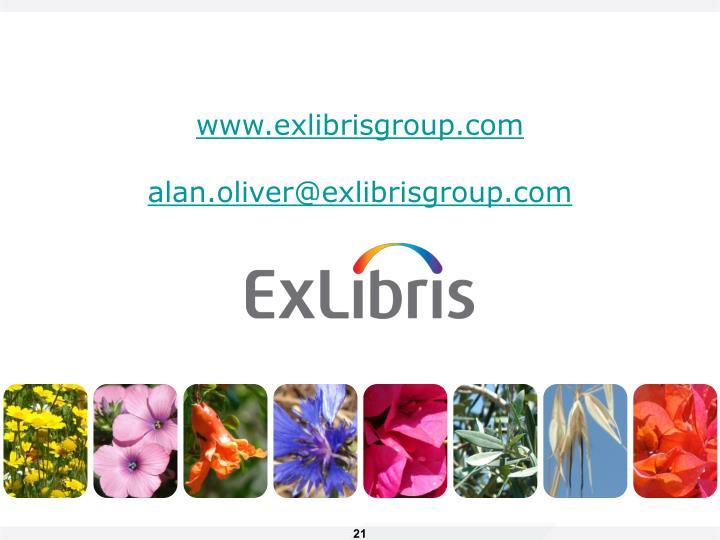 www.exlibrisgroup.com