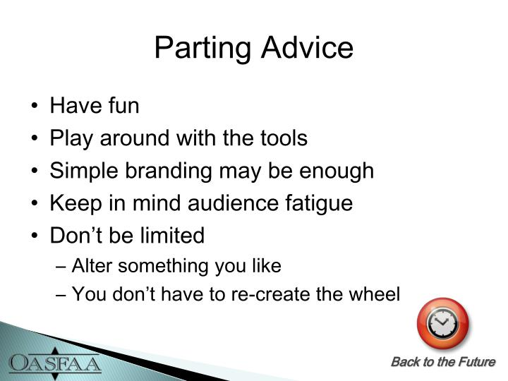 Parting Advice