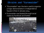 ukraine and euromaidan