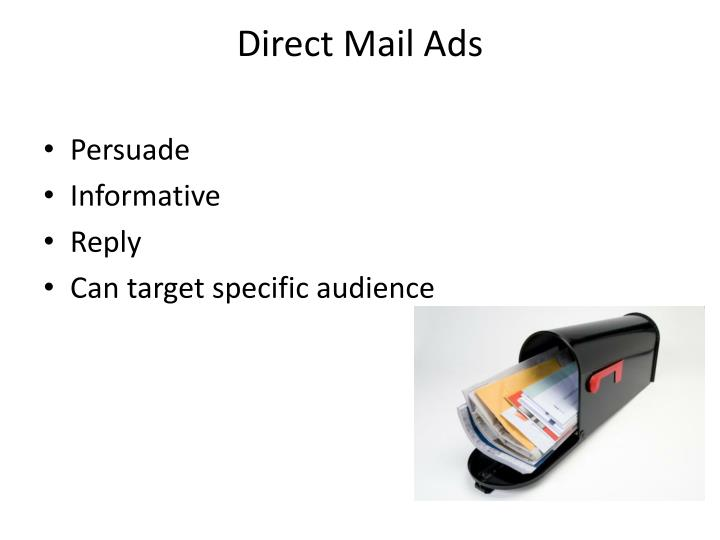 Direct Mail Ads