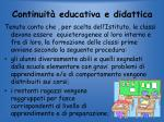 continuit educativa e didattica