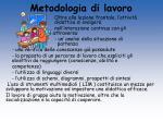 metodologia di lavoro