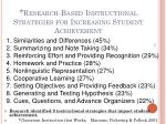 research based instructional strategies for increasing student achievement