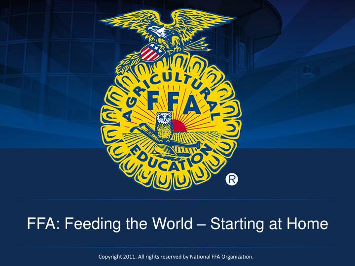 Ffa feeding the world starting at home