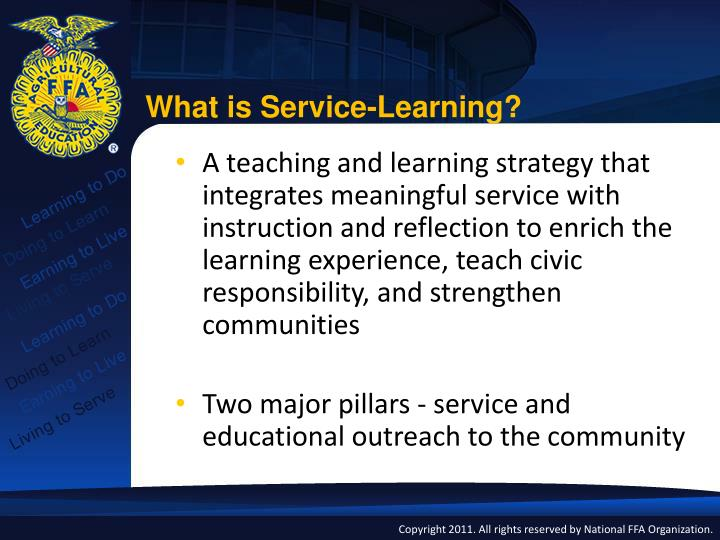 What is Service-Learning?