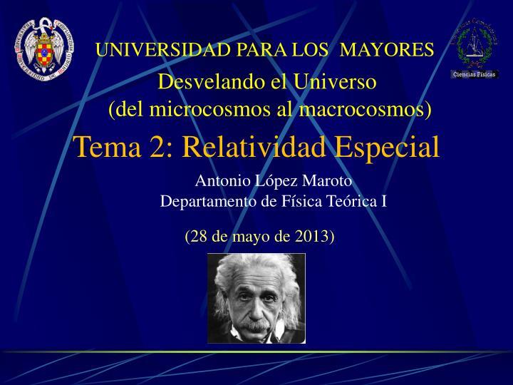 UNIVERSIDAD PARA LOS  MAYORES