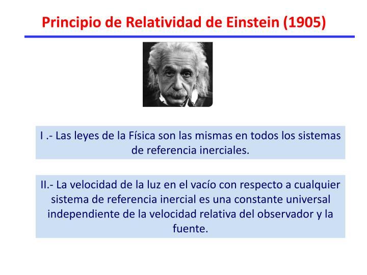 Principio de Relatividad de Einstein