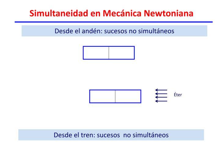 Simultaneidad en Mecánica Newtoniana