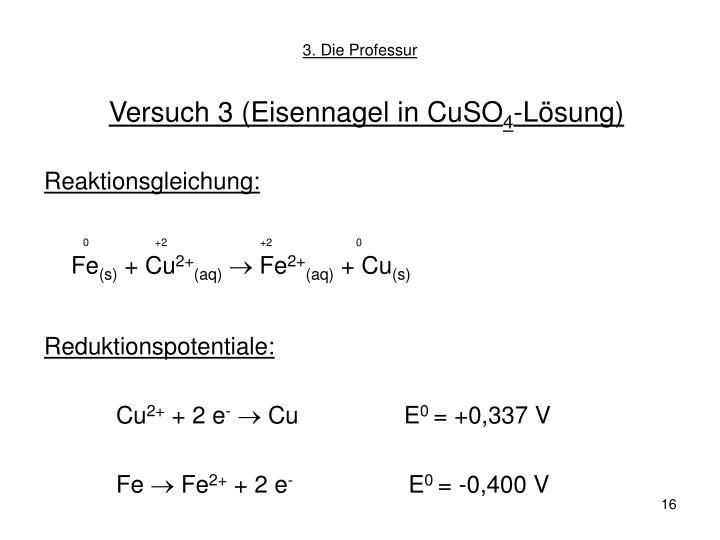 Versuch 3 (Eisennagel in CuSO