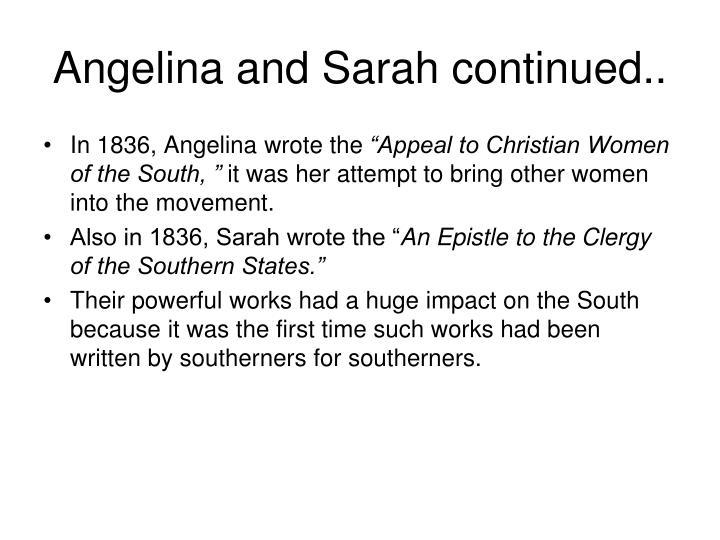 Angelina and Sarah continued..