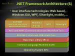 net framework architecture 6