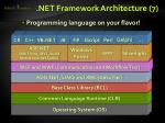 net framework architecture 7
