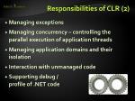 responsibilities of clr 2