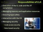 responsibilities of clr