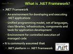 what is net framework