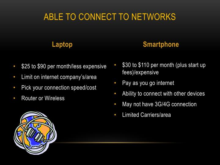 Able to connect to networks