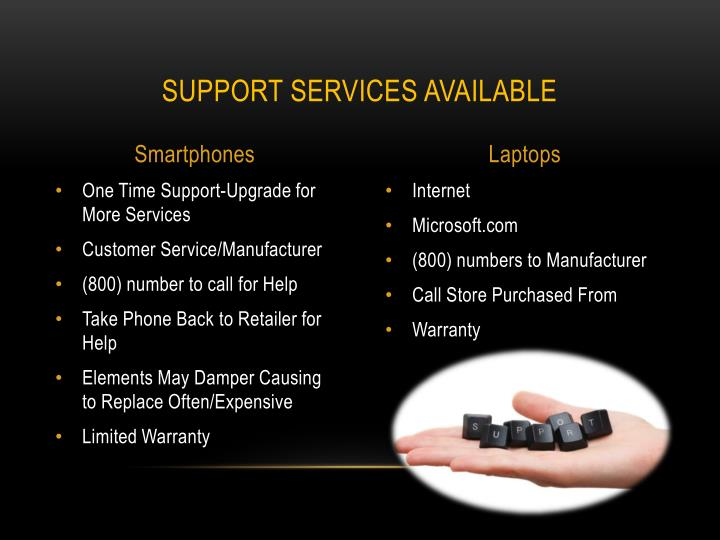 Support Services Available