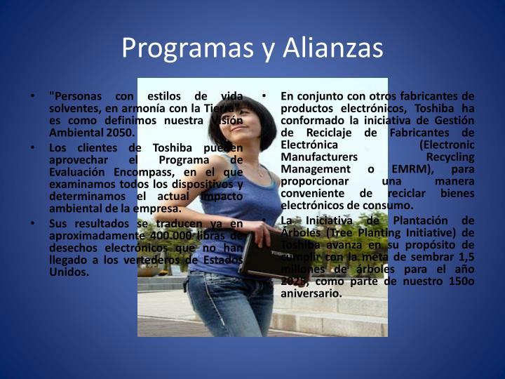 Programas y Alianzas