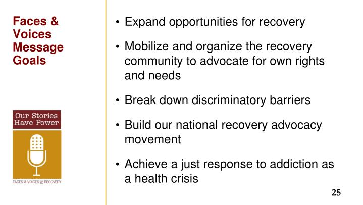 Expand opportunities for recovery