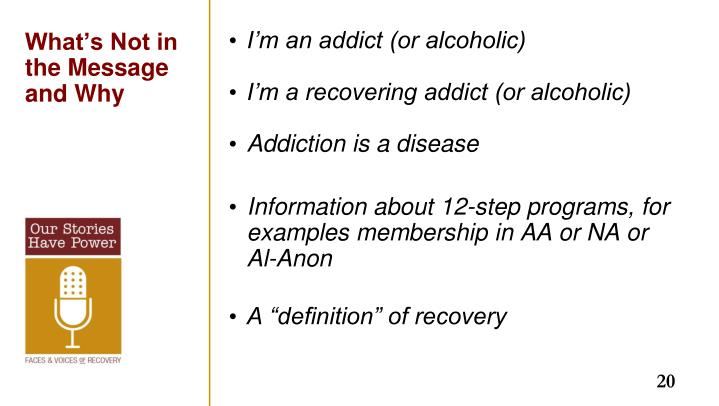 I'm an addict (or alcoholic)