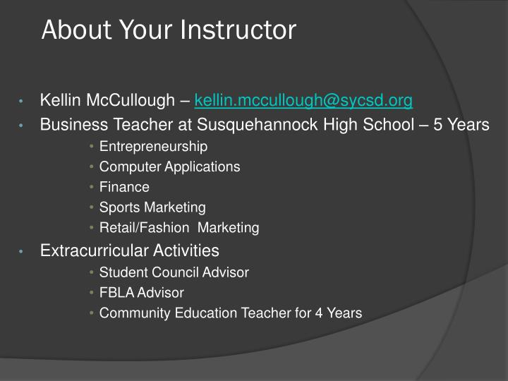 About your instructor