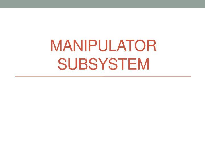 Manipulator Subsystem