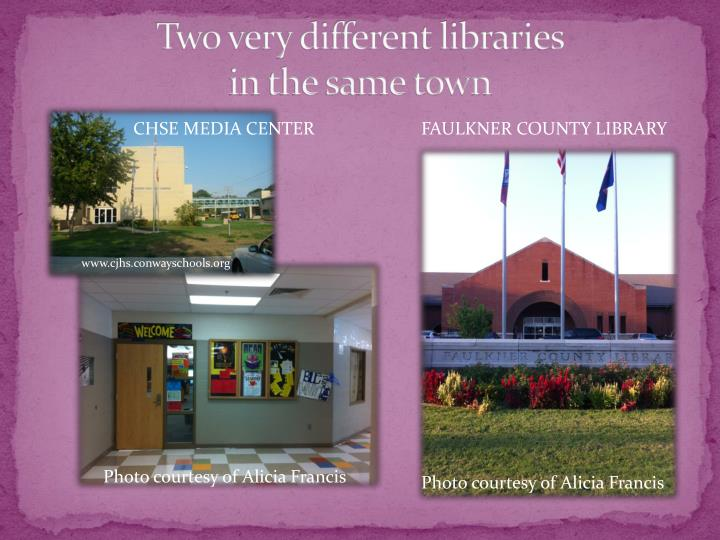 Two very different libraries in the same town