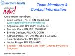 team members contact information