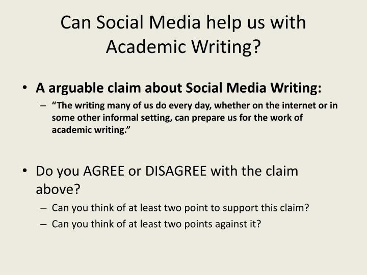 Can Social Media help us with Academic Writing?