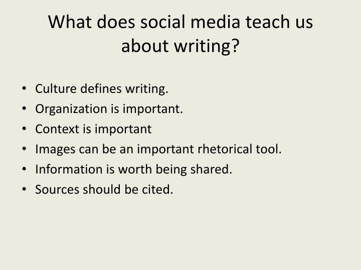 What does social media teach us about writing?