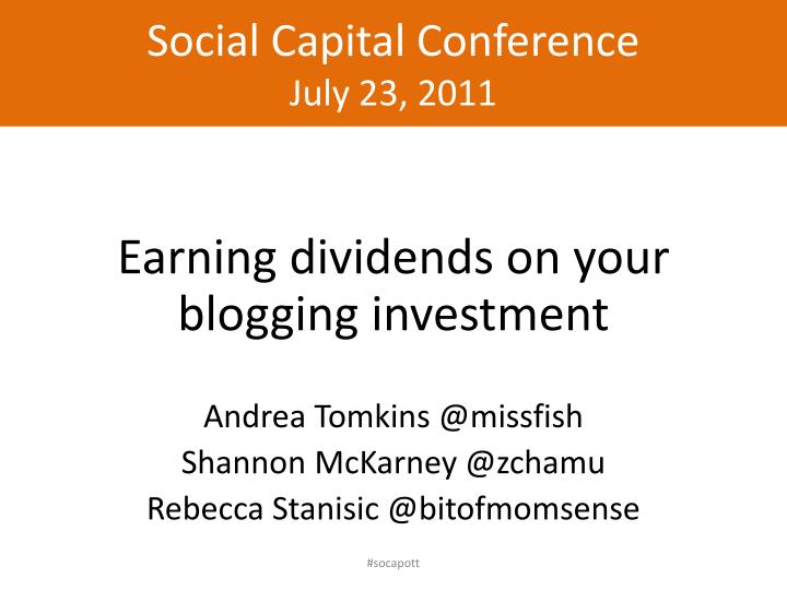 Social Capital Conference