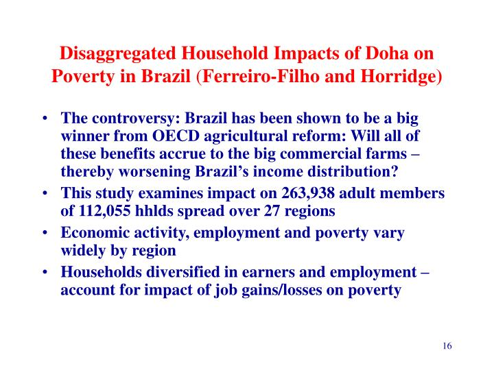 Disaggregated Household Impacts of Doha on Poverty in Brazil