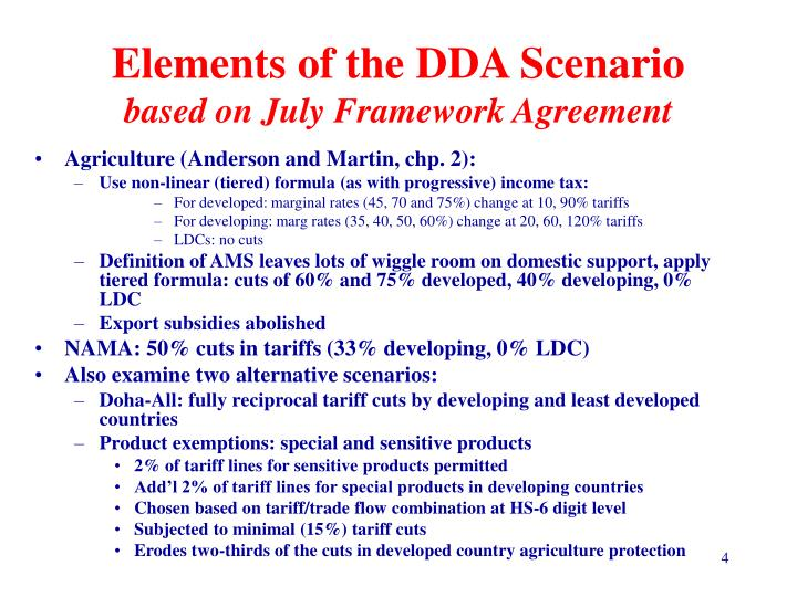 Elements of the DDA Scenario
