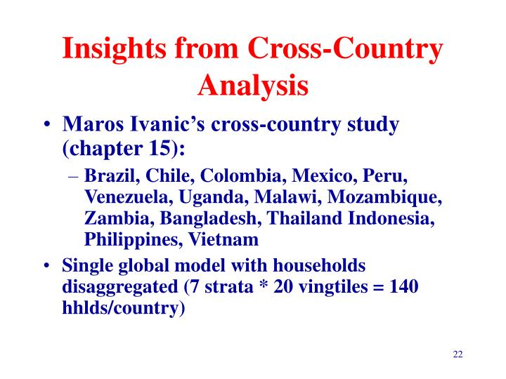 Insights from Cross-Country Analysis
