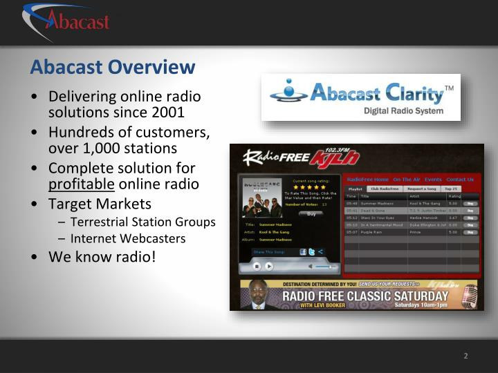 Abacast overview