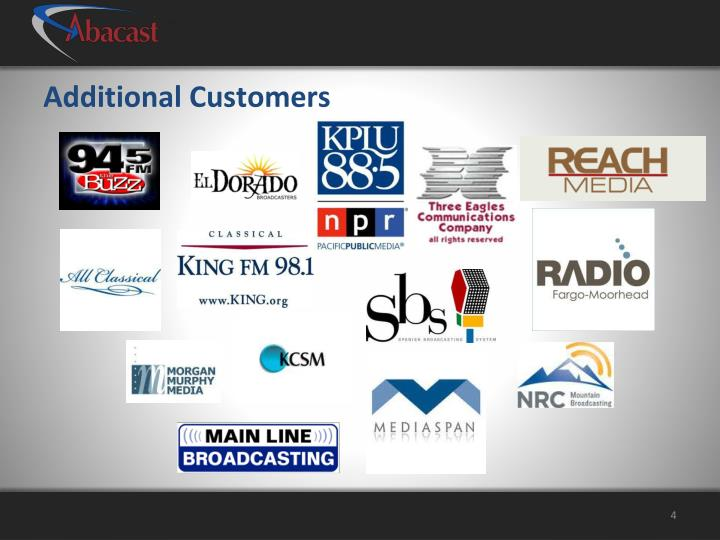 Additional Customers