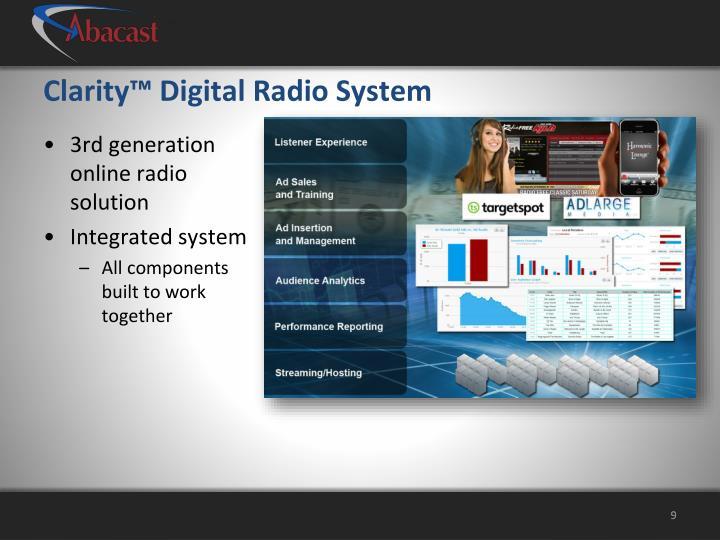Clarity™ Digital Radio System